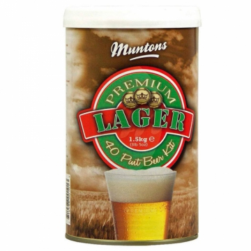 Охмеленный Экстракт для производства домашнего пива! Muntons Lager, 1,5 кг., на 18 или 23 л пива.