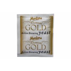 Дрожжи сухие пивные  Muntons PREMIUM GOLD - 6 г., рассчитаны на приготовление до 25 литров пива.
